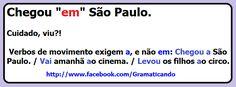 Chegou EM São Paulo está correto? #portugues #dicas