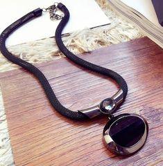 d02c072a542 RSS 2018 Jewelries Black Necklace with Black Big Stone Pendant Al    RudelynsSariSariStore.com Black