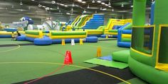 limiting visits to between 2 – 2 ½ hours Inflatable world is an incredible indoor play space for kids and adults alike - your are literally able to bounce off the walls and test your limits