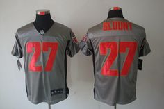 2012 Nike NFL Tampa Bay Buccaneers 27 LeGarrette Blount Grey Shadow Jerseys