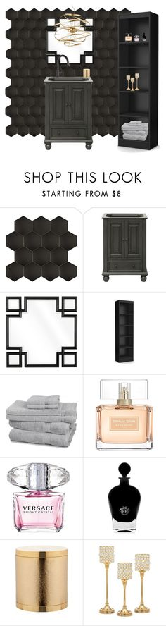 """""""Black and Gold"""" by maddy0428 on Polyvore featuring interior, interiors, interior design, home, home decor, interior decorating, Merola, Avanity, Eichholtz and Givenchy"""