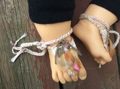 baby boho chic booties,barefoot sandals,shabby chic,hippie,baby shower gift,baby gladiator sandals,lace feathers pearls,cotton,flax,linen by Rosebudbabydesigns on Etsy