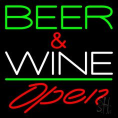 Green Beer And Wine With Bottle Red Open Neon Sign 24 Tall x 24 Wide x 3 Deep, is 100% Handcrafted with Real Glass Tube Neon Sign. !!! Made in USA !!!  Colors on the sign are Red and Green. Green Beer And Wine With Bottle Red Open Neon Sign is high impact, eye catching, real glass tube neon sign. This characteristic glow can attract customers like nothing else, virtually burning your identity into the minds of potential and future customers. Green Beer And Wine With Bottle Red Open Neon Sign…
