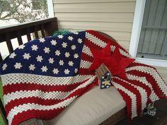 Free Crochet Pattern Of American Flag : 1000+ images about Crochet Blankets on Pinterest Crochet ...