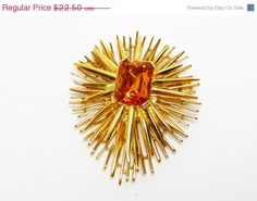 Premier Design Automic Brooch  Goldtone with by thejewelseeker