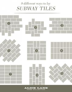 33 Lovely Design Ideas Subway Tile Patterns Backsplash Brokenshaker Com 9 Different Ways To Lay Tiles Shower Kitchen For - Home Design