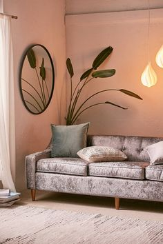 Milly Velvet Sofa | Urban Outfitters