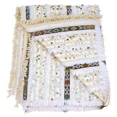 Moroccan Handira Blanket on Chairish.com