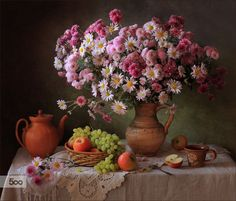 Photo With chrysanthemums and grapes by Tatiana Skorokhod on 500px