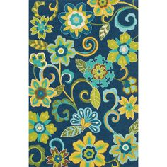 The Capri rug will brighten up your home inside or out with a series of appealing, modern, hand-hooked designs. Made of 100-percent polypropylene, these rugs are UV and mildew-resistant.