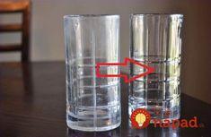 Poháre zo skla, ktoré som dostala ako svadobný dar, časom celkom stratili priezračnosť. Vyzerali, akoby boli ponorené v mlieku, na stenách aj dne sa im objavil povlak, ktorý pôsobil nie príliš estetickým dojmom. Shot Glass, Cleaning, Tableware, Dinnerware, Tablewares, Home Cleaning, Dishes, Place Settings, Shot Glasses