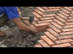 Bricklaying Is Art - Bricklayer Is Artist Brick Pathway, Stone Driveway, Backyard Patio, Backyard Landscaping, Brick Laying, Garden Design Plans, Brick Flooring, Brick Patios, Brick Patterns