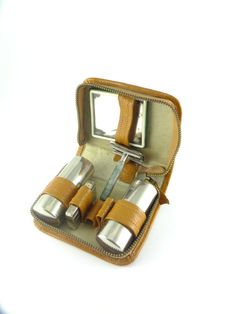 Vintage Compact Russian Small Travel Shaving Set by ContesDeFees