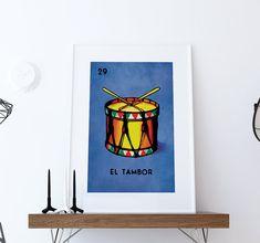 Loteria El Tambor Mexican Retro Illustration Art Print Vintage Giclee on Paper Canvas Poster Wall Decor #loteria #eltambor #mexican #mexico #print #homedecor #retro #art #homedecorideas #wallart #mexicanart #mexicanfolkart #loteriaprint #artprint #giclee #art #bingo #hand #handmade #print #mexicanfolkart #kitch #vintage #largegiclee #etsy