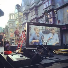 Tom Felton and Matthew Lewis live from Diagon Alley on FOX NEWS