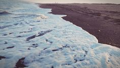 Foam on beach, with filters