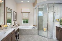 George Models, Arthur Rutenberg Homes, Monaco, Master Bathroom, Luxury, Modern Townhouse, Master Bath, Master Bathrooms, Master Bedrooms