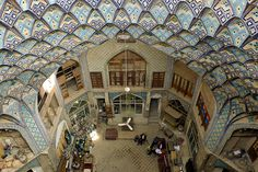Genuinely inspiring views from Kashan Bazaar roof, Iran
