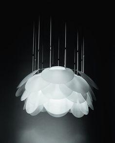 design pendant lamp (methacrylate, white, HID's) NUVOLE VAGABONDE by Elio Martinelli Martinelli Luce Spa