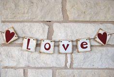 Valentine Decoration Banner Love
