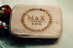 FAST SHIPPING Rustic Ring Bearer Box by KottageInspirations
