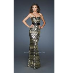 $398.00 LaFemme Prom Dress at http://viktoriasdresses.com/ Through John's Tailors