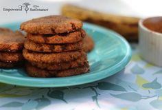 These autoimmune paleo cookies use coconut flour banana and a special superfood ingredient. Paleo Cookies, Spice Cookies, Paleo Treats, Ginger Cookies, Coconut Cookies, Paleo Dessert, Real Food Recipes, Cookie Recipes, Diet Recipes