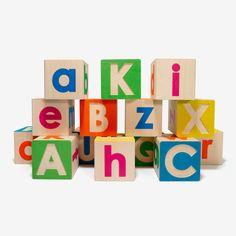 Upper and Lowercase Alphabet Block Set - bitteshop.com
