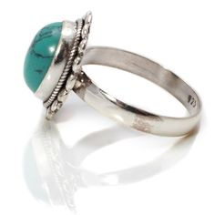 Handmade Turquoise Silver Ring by Charlotte's Web Charlottes Web, Gemstone Rings, Silver Rings, Turquoise, Touch, Handmade, Jewelry, Style, Swag