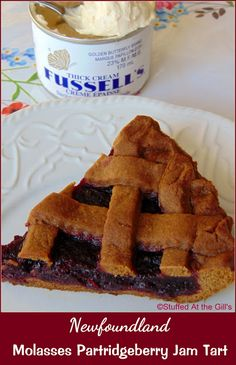 Stuffed At the Gill's: Newfoundland Molasses Partridgeberry Jam Tart Tart Recipes, Pudding Recipes, Baking Recipes, Cookie Recipes, Dessert Recipes, Newfoundland Recipes, Newfoundland Canada, Christmas Desserts, Christmas Baking