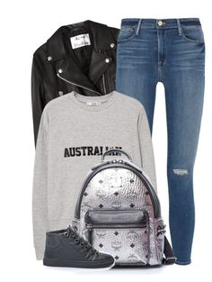 """""""Back to School"""" by monmondefou ❤ liked on Polyvore featuring Acne Studios, Frame Denim, MANGO and BackToSchool"""