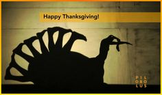 """Turkey Day: Warm regards on this fine holiday from all of us in Pilobolus!"""