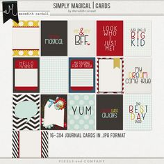 Simply Magical | Journal Cards