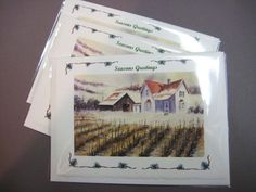 Christmas Cards  Season Greetings 3  First by watercolorsNmore, $10.00
