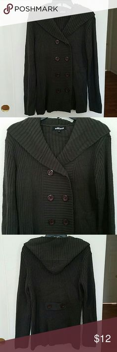 """⤵CLEARANCE SALE⤵ Vintage Hooded Sweater Vintage Hooded Double Breasted Sweater. No damages. Mid weight. Approx L 28"""". effeci Sweaters"""