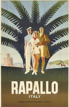 Mario Puppo (1905-1977) RAPALLO, ITALY lithograph in colours, 1947, printed by SAIGA, Genova,