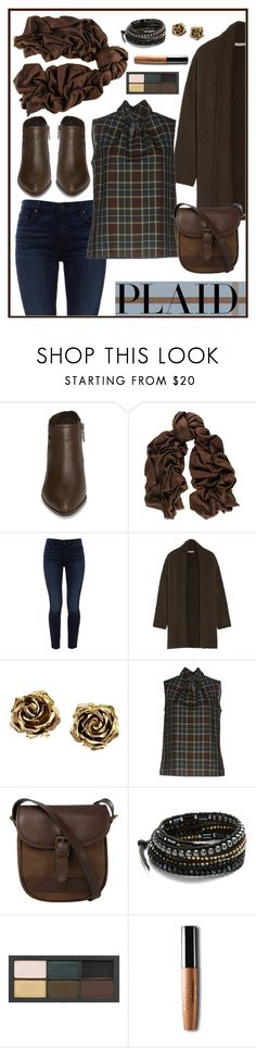 """Chocolate Plaid"" by pheonix-dt ❤ liked on Polyvore featuring 1.State, Black, Jen7, Vince, Tiffany & Co., Dsquared2, DUBARRY, Chan Luu and NARS Cosmetics"