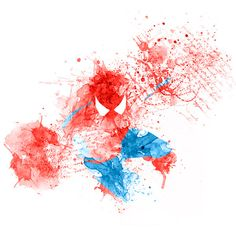 Comic Book Superhero Spatter Art