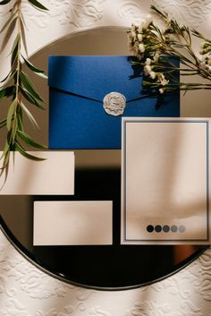 Grey Wedding Invitations, A Table, Envelope, Green, Envelopes, Place Settings