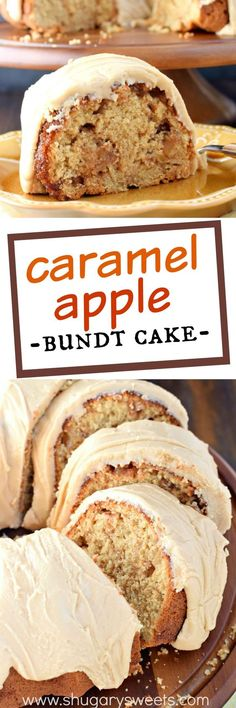 """This Caramel Apple Bundt Cake is the perfect breakfast cake or dessert recipe! Packed with apples, cinnamon and brown sugar, it's the caramel frosting that's truly the """"icing on the cake."""""""