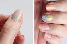 Uñas de acuarela | Las uñas Hokuri son las más Kawaii de todos los tiempos