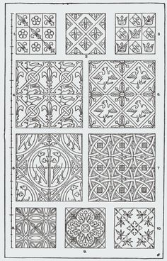"""From, """"A Handbook of Ornament"""". 1898 by Franz Sales Meyer. Zentangle Patterns, Tile Patterns, Pattern Art, Embroidery Patterns, Pattern Design, Doodle Drawing, Medieval Pattern, Modelos 3d, Illuminated Letters"""