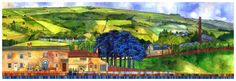Above Midgely painting by Kate Lycett