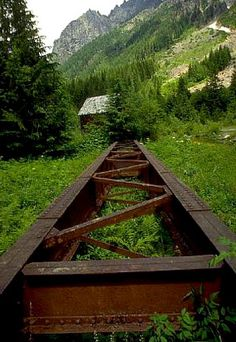 Monte Cristo, Wash., USA. Beautiful 4 mile hike to what's left of this 1890s mining town.