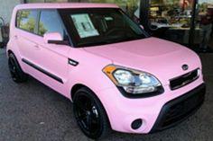 Pink KIA soul