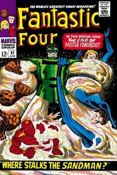 This Fantastic Four issue was published in April 1967 by Marvel Comics and features The Sandman. For sale is a Silver Age 1967 Fantastic Four Comic from Marvel Comics. In my opinion, this Comic is in Very Good Condition. Marvel Comics Superheroes, Marvel Comic Books, Comic Book Heroes, Marvel Heroes, Comic Books Art, Marvel Characters, Dc Comics, Marvel Villains, Horror Comics