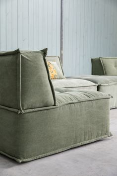 Ginger Home Fennel Sofa. Communicated elements series offering one seaters, a hocker, a corner element and loose arm elements for endless combinations. Sofa Tables, Sofa Chair, Home Cinema Seating, Lazy Boy Chair, Minimalist Sofa, Modular Sofa, Furniture Inspiration, Apartment Design, New Room