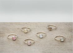 Colored stone rings from Betsey Sook