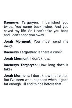 Quote from the TV show Game of Thrones (Produced by HBO) | Quote by Daenerys Targaryen and Jorah Mormont | #GameofThrones #GoT #Quotes
