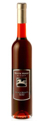 Whyte Horse Winery Black Beauty - a rich blackberry dessert wine, super yummy with chocolate, $14.02